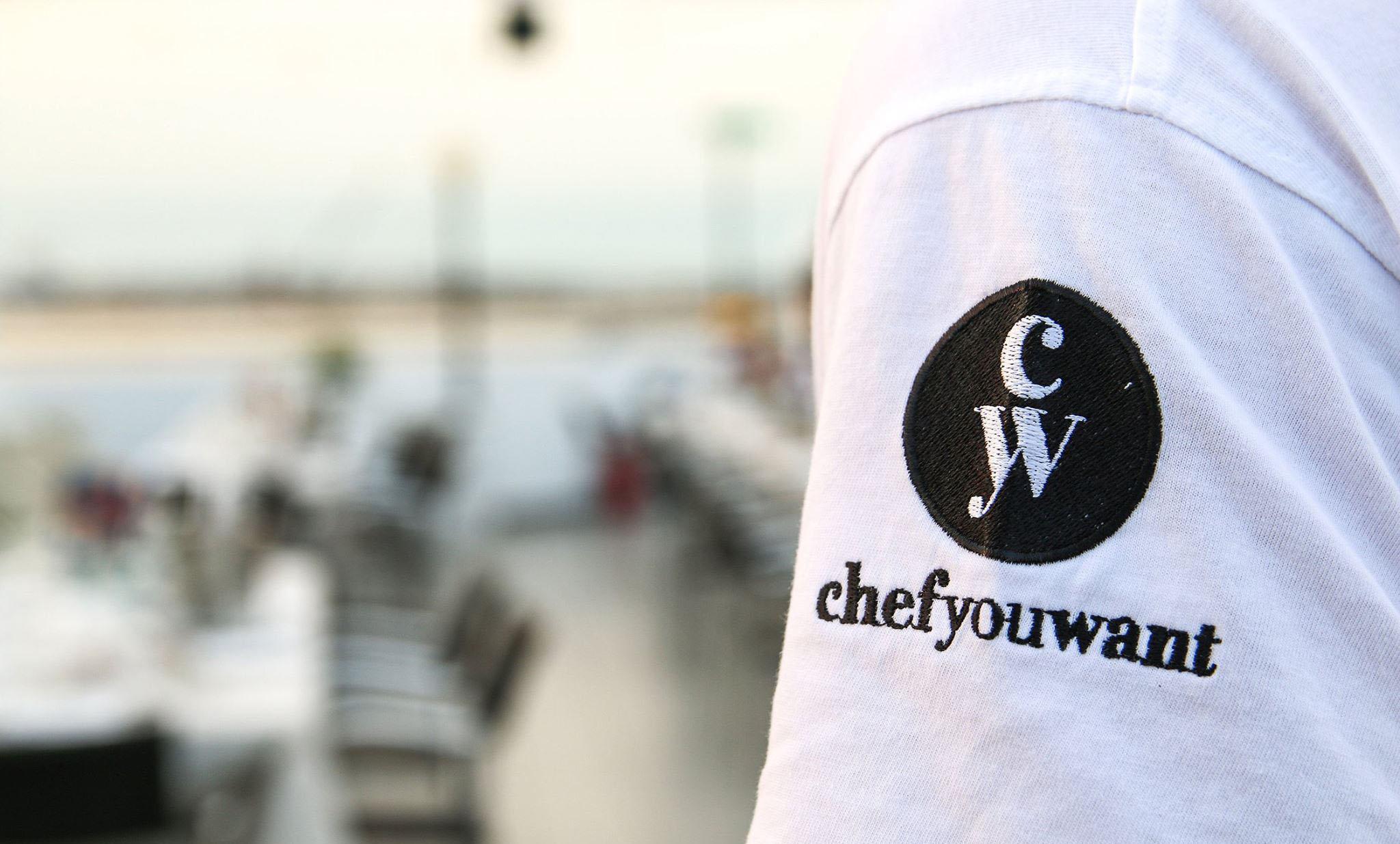 Maglietta con Logo chefyouwant ad un evento