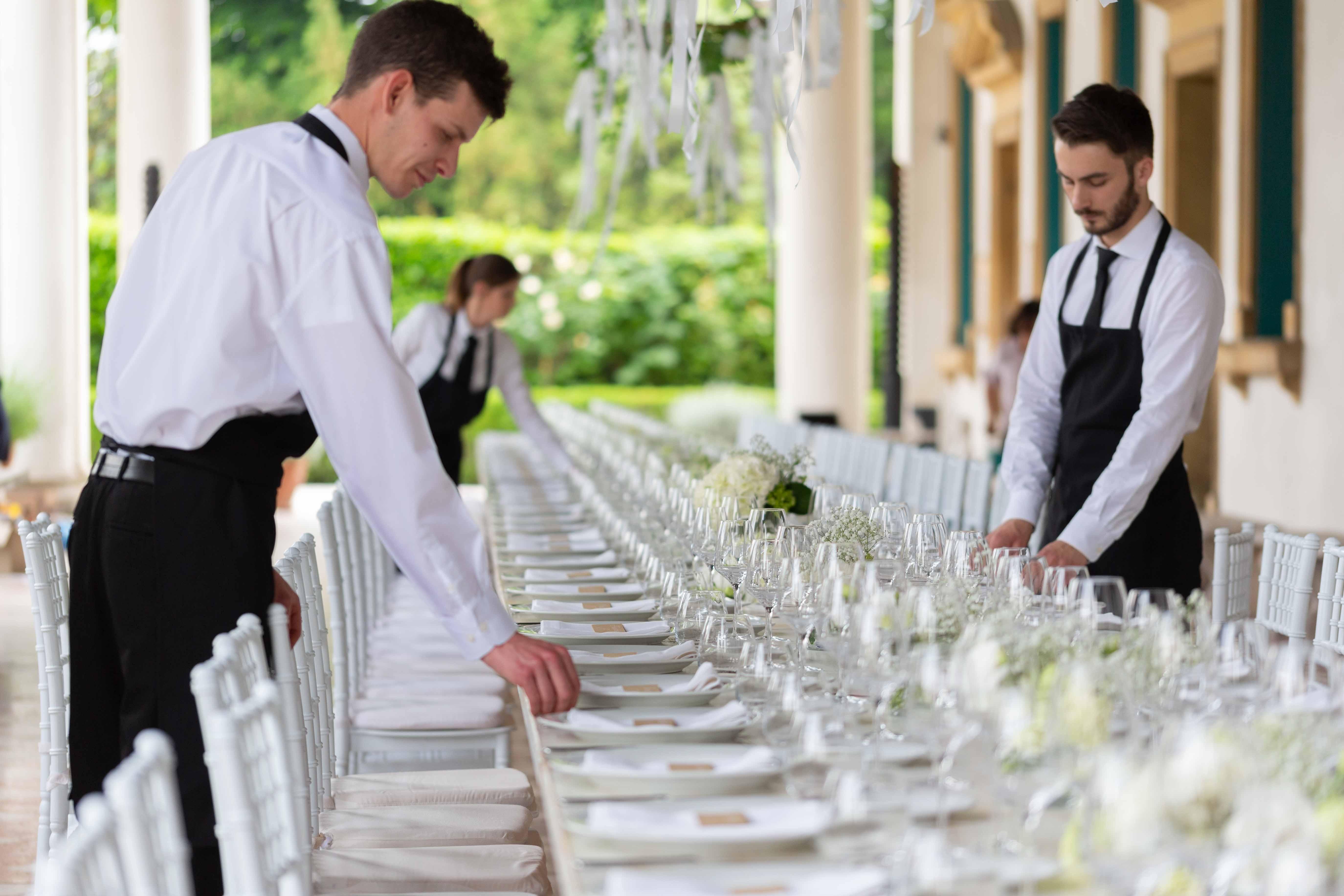 Servizi Maglietta con Logo chefyouwant ad un evento